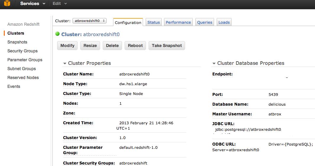 Combining Hadoop/Elastic Mapreduce with AWS Redshift Data Warehouse